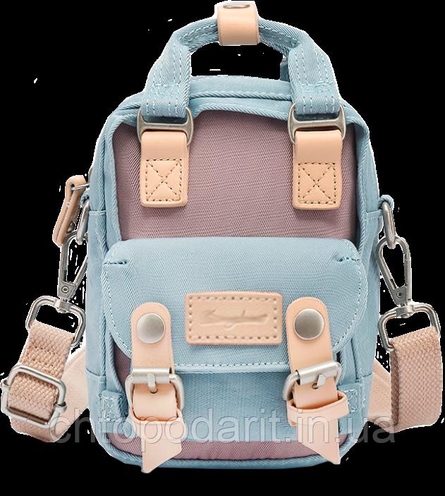 Мини - сумочка Doughnut голубая Код 10-2143