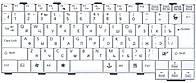Клавиатура для ноутбука Fujitsu LifeBook  White, RU