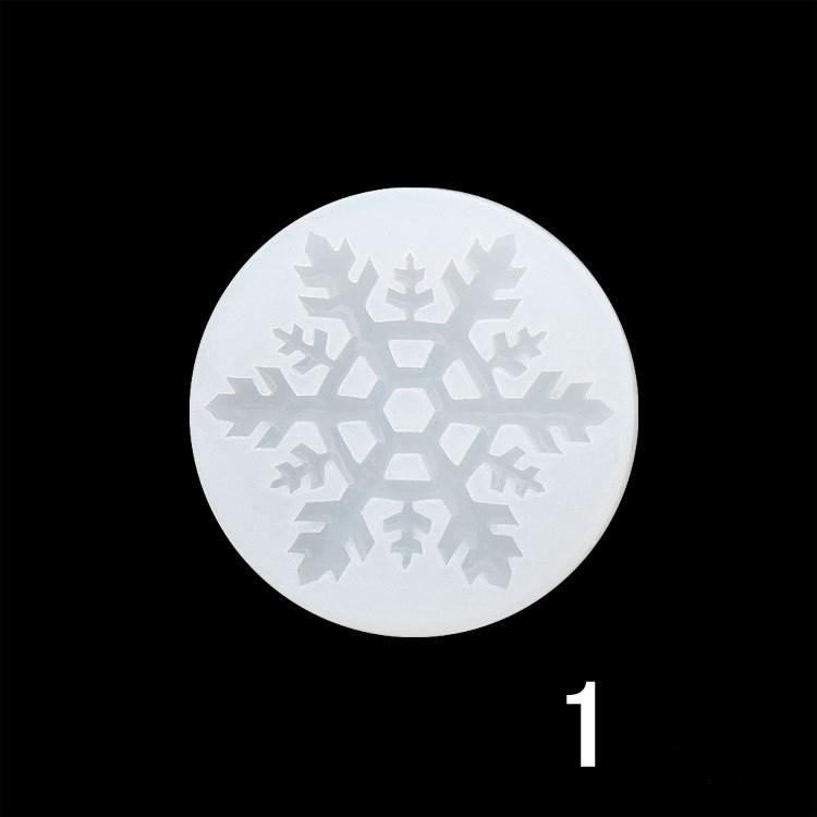 Силиконовый молд, форма, Снежинка №1