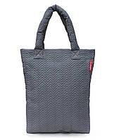 Стеганая женская сумка Poolparty NS3 (серая)