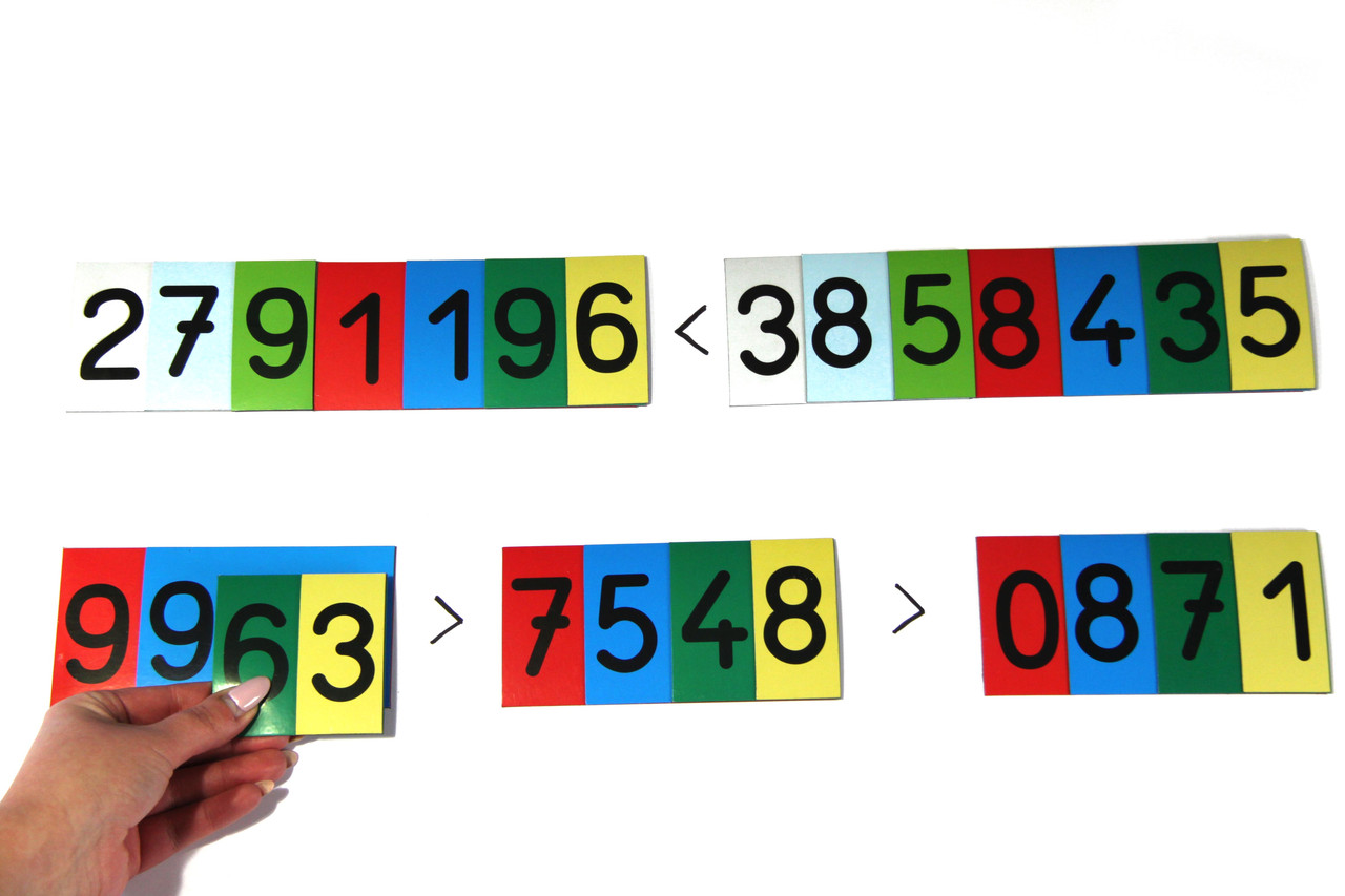 Магнітні картки цифр до мільйона, 70 шт, 7,5 мм