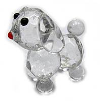 Собака хрустальная (6х4х4 см)