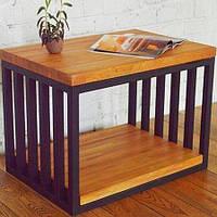 Кофейный журнальный столик в стиле LOFT (NS-970001985), вис-600мм, шир-400мм, довж-600мм,