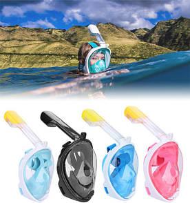Полнолицевая маска для плавания FREE BREATH (S/M) M2068G с креплением для камеры