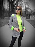 Женский пиджак с яркими вставками tez2009176