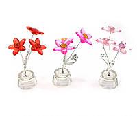 Цветок хрустальный (3 цветка)(8402)(4,5х4,5х10см)(18864)