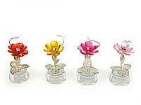 Цветок хрустальный с бабочкой (10,5х5х5 см)(6965)