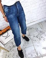 Прямые женские джинсы укороченные на средней посадке tez312344