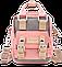 Мини - сумочка Doughnut пудра Код 10-2265, фото 3