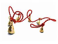Колокольчики бронзовые на веревке (6 шт)(120 см)(Bell String-Cow/American)