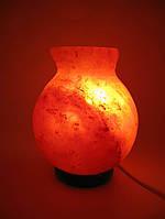 """Соляная лампа (SL-32) """"Ваза"""" (d-12,h-17 см)(8 шт ящ.)(Гималайская соль)"""