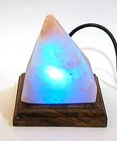 """Соляная лампа USB """"Пирамида"""" (S-03)(10х9х9 см)(24 шт ящ.)(Гималайская соль)"""