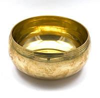 Чаша поющая бронзовая (без резонатора)(d 15 см)(Yellow Plain no.4)