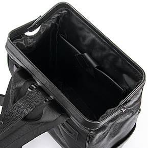 Рюкзак стильный черный кожаный BRETTON (36*29*15 см) BP 2004-7 black, фото 2