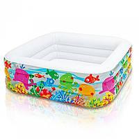 Детский надувной бассейн «Аквариум» Intex 57471 (159*159*50 см) 2 вида