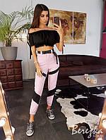 Женские летние брюки повседневные на высокой посадке tez6612358