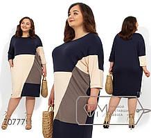 Прямое летнее батальное платье из вискозы tez1151847