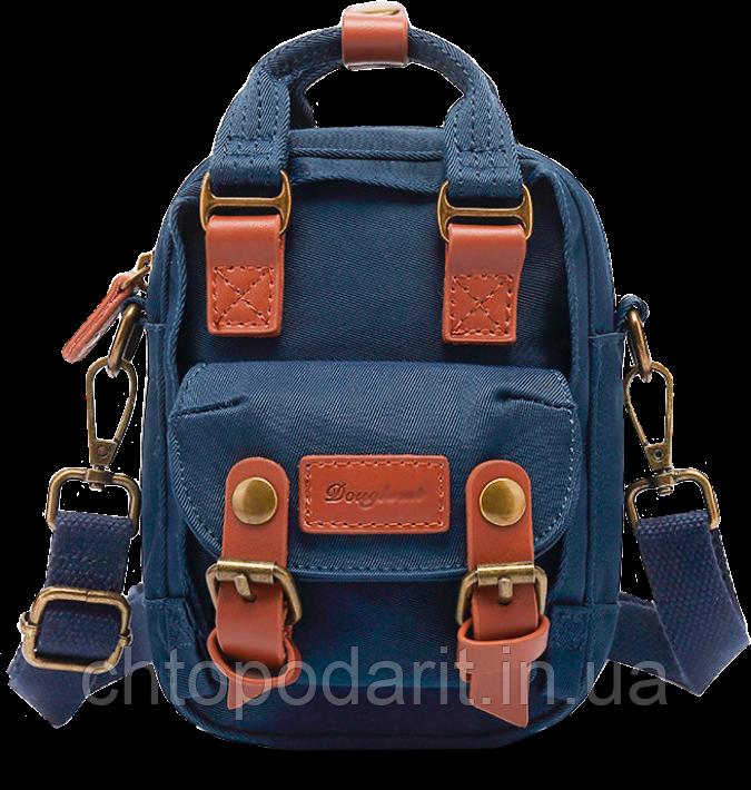 Мини - сумочка Doughnut синяя Код 10-2384