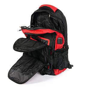 Удобный рюкзак для города и туризма нейлоновый черно-красный POWER IN EAVAS 50*35*25 см(43 литра), 8215 red, фото 2