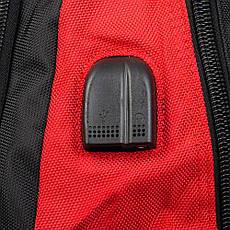 Удобный рюкзак для города и туризма нейлоновый черно-красный POWER IN EAVAS 50*35*25 см(43 литра), 8215 red, фото 3