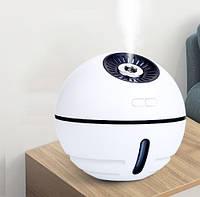 Увлажнитель воздуха для комнаты, рабочего места или машины с фонариком и вентилятором (УВ-102)