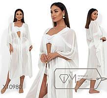 Женский шифоновый пляжный халат батал tez1151875