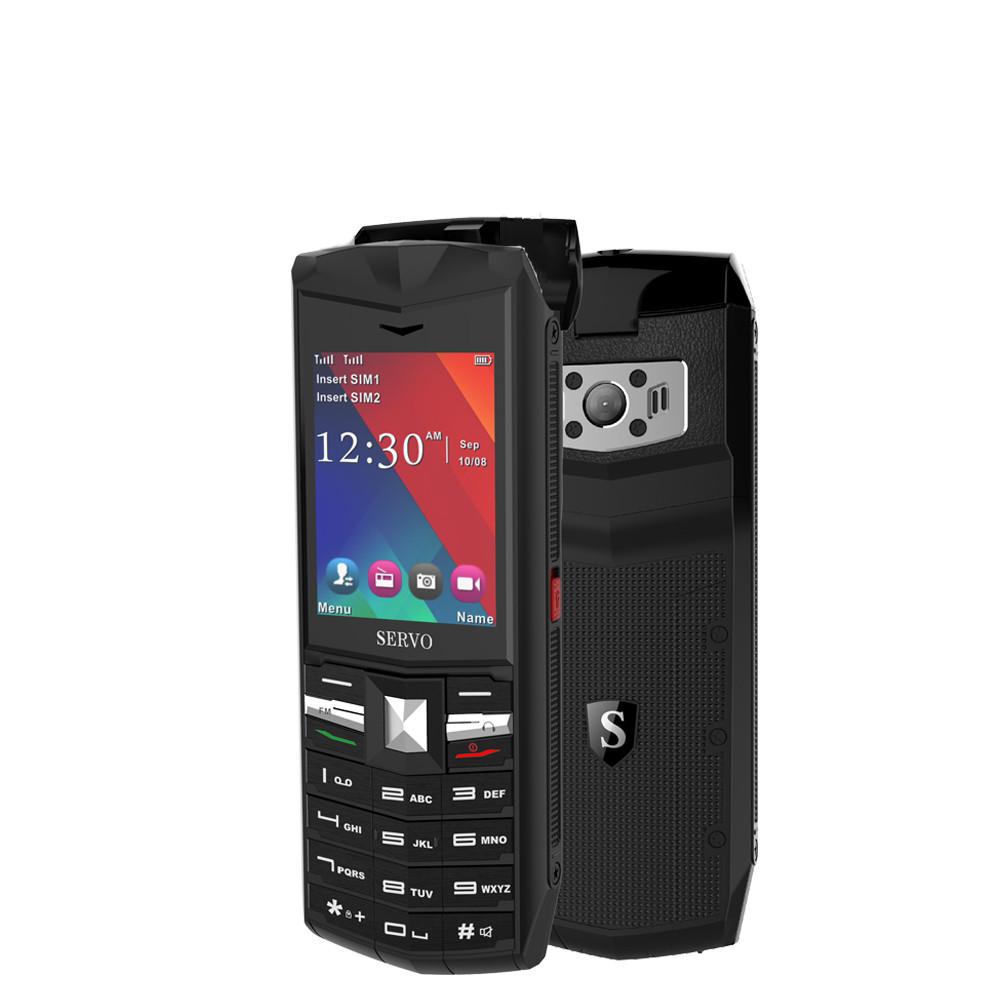 SERVOR262.4-дюймовый3000mAhPowerBank TWS True Wireless Bluetooth 5.0 Фонарик для наушников Двойная функция SIM-карты Телефон-Английский