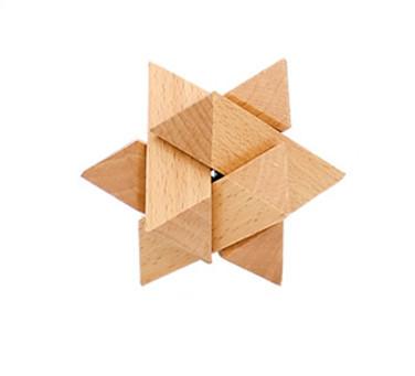 Деревянная игрушка Головоломка MD 2056 (Звезда MD 2056-7)