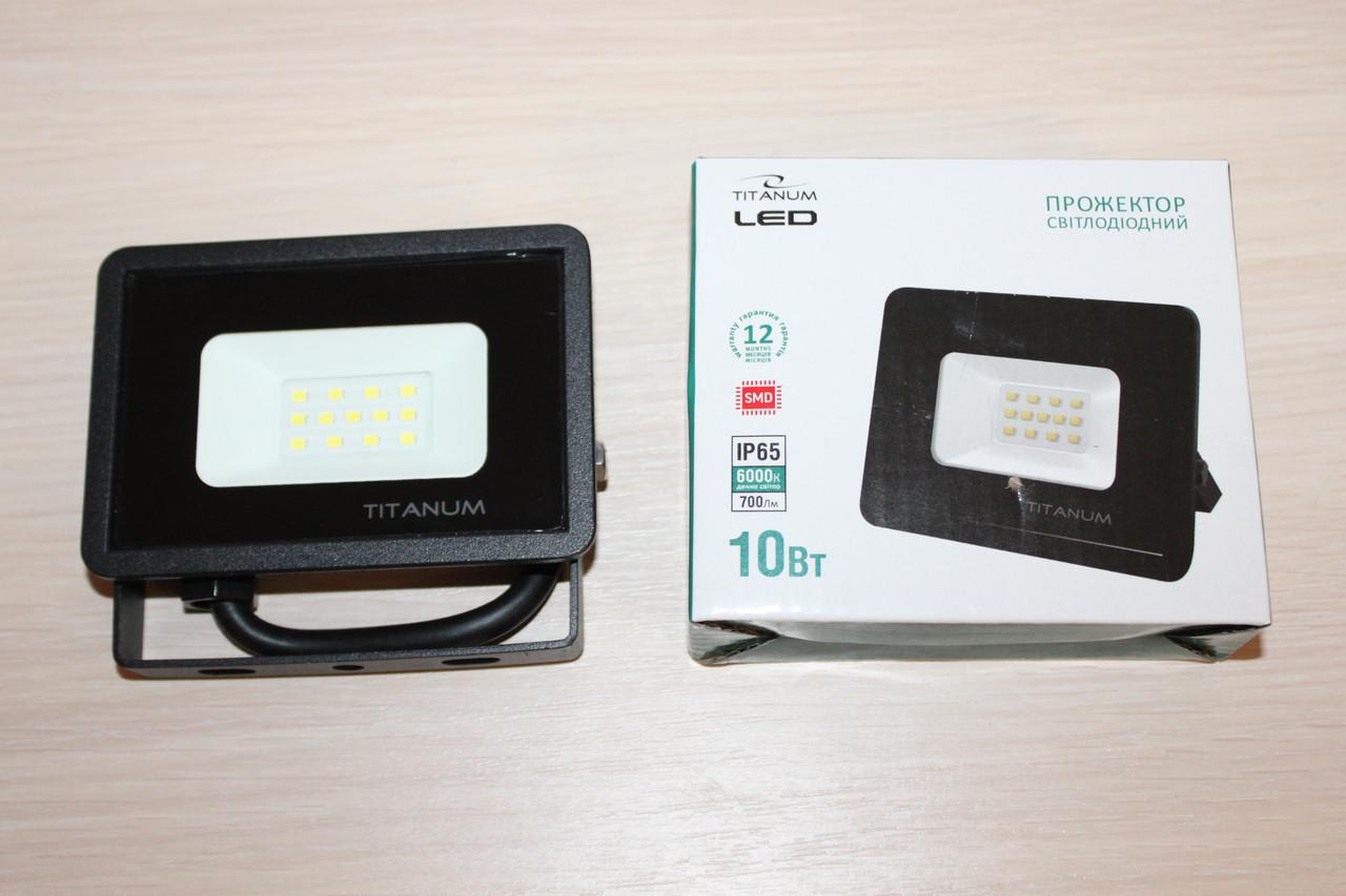 Прожектор LED TITANUM 10W 6000K 220V 700Lm Black