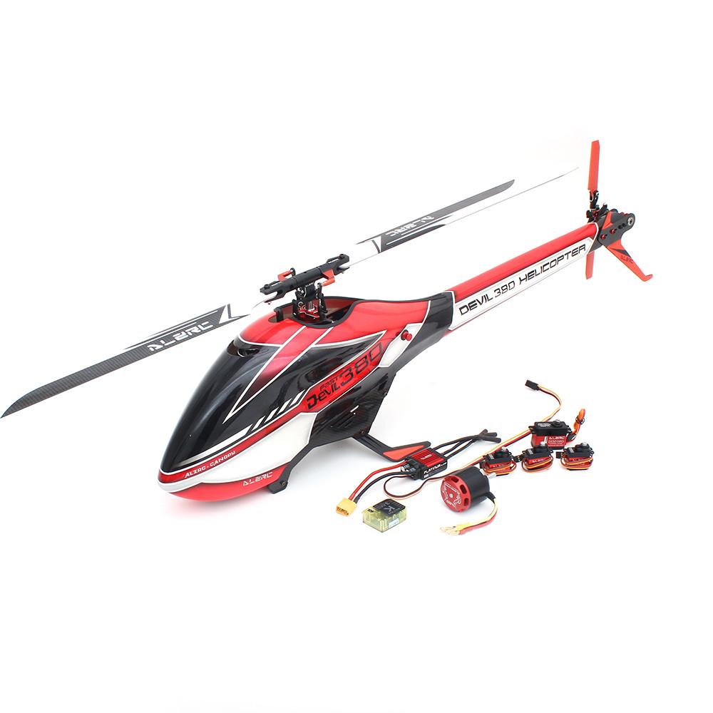 ALZRC Devil 380 FAST FBL 6CH 3D Flying Flybarless RC Вертолет Супер комбо с Мотор ESC Сервопривод Гироскоп - 1TopShop