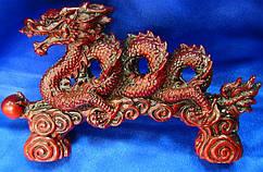Дракон спираль каменная крошка коричневый (21х12х4,5 см)