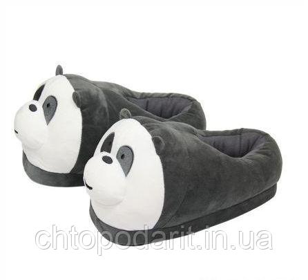 Мягкие тапочки кигуруми Панды Код 10-2652