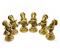 Ганеша бронза (н-р 6 шт) (Ganesh Music Set of 6ps)