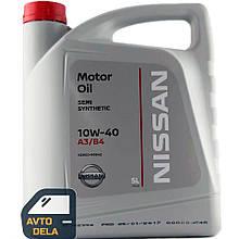 Полусинтетическое моторное масло Nissan Motor Oil 10W-40 - 5 л