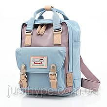 Женский городской рюкзак Doughnut Macaroon голубой Код 10-5414
