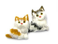 Кошка искуственный мех (12 шт/уп)(6,5х6х2 см)