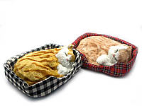 Кошка спящая на подстилке (25х20х7 см)
