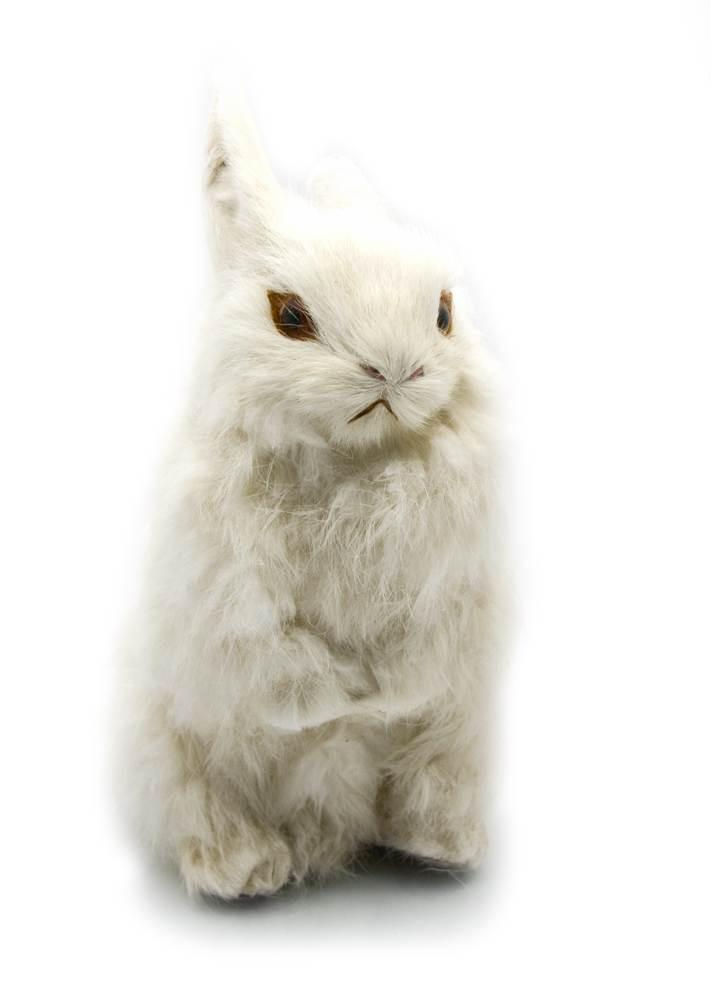 Кролик (натуральный мех)(22х15х10 см)