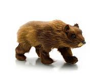 Медведь (натуральный мех)(22х11х7 см)