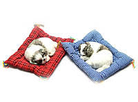 Щенок спящий на коврике (23х19х4 см)