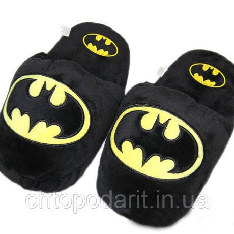 Мягкие тапочки кигуруми человек Бетмен