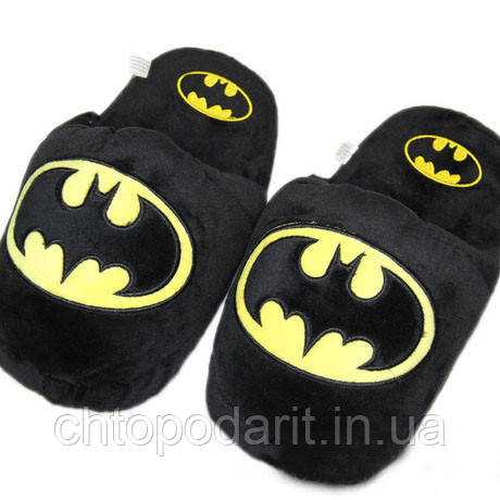 Мягкие тапочки кигуруми человек Бетмен Код 10-2789