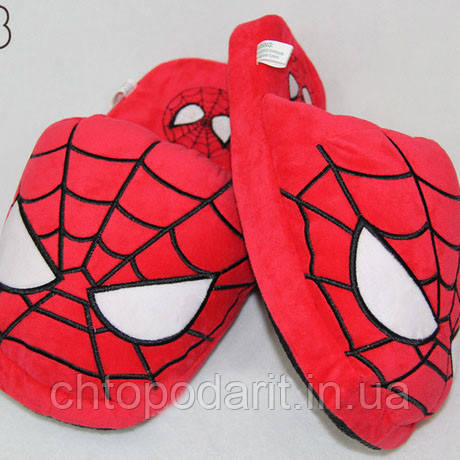 Мягкие тапочки кигуруми человек паук Код 10-2796