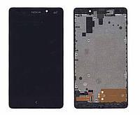 Матрица с тачскрином  для Nokia XL Dual sim RM-1030 с рамкой черный