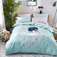 Комплект постельного белья Девочка (двуспальный-евро) Berni