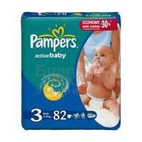 Pampers подгузники Active Baby Midi Джамбо Упаковка 82