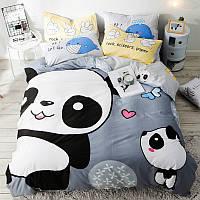 Комплект постельного белья Милые панды (двуспальный-евро) Berni