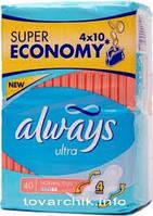 Гигиенические прокладки Always ультра 40 шт