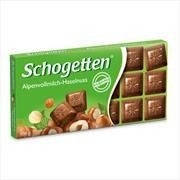 Молочный шоколад с фундуком Schogetten alpine milk chocolate with hazelnuts 100гр