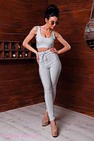 Женский костюм из люрекса с завышенными лосинами и топом tez205664